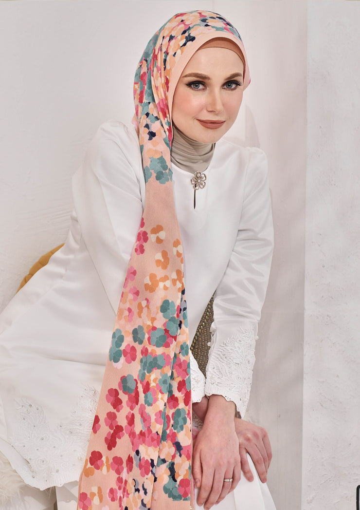 (Full Pleats ) BLOOMING EID Shawls in SOULFUL ELISE