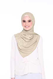 Long Shawl Flowy Chiffon PURE ( Wheat)