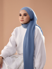 Breeze Pleats Long Shawl (Small) in Bell Air