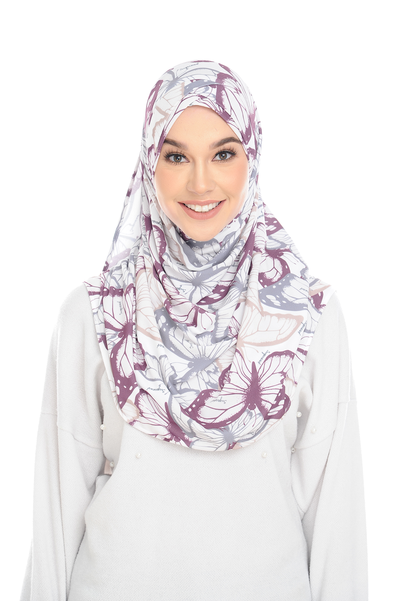 (Pappilion) Pinless Semi Instant Shawl - Criss Cross