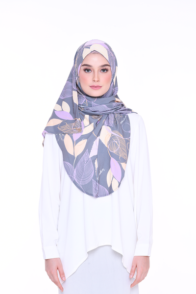( Wendy ) JULIA Pinless Semi Instant Shawl - Round Awning