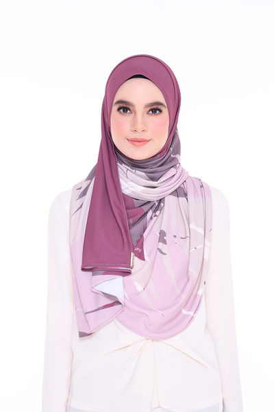 (Euphoria Determined) JULIA Pinless Semi Instant Shawl - Round Awning