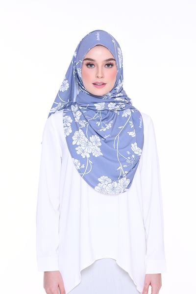( Honest Blue ) Julia Round Awning Pinless Semi Instant Shawl