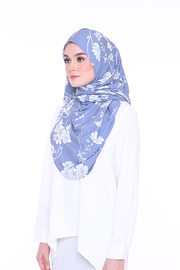 ( Honest Blue ) JULIA Pinless Semi Instant Shawl - Round Awning