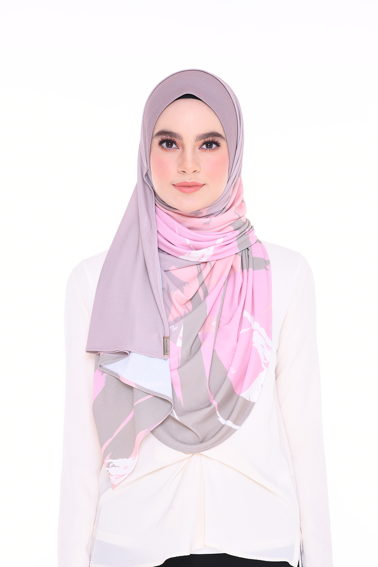 Julia Round Pinless Semi Instant Shawl EUPHORIA Sure