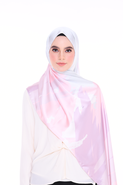 (Shawl) Euphoria INSPIRED MixSatin Silk Scarf  - (Send within 15 Days)