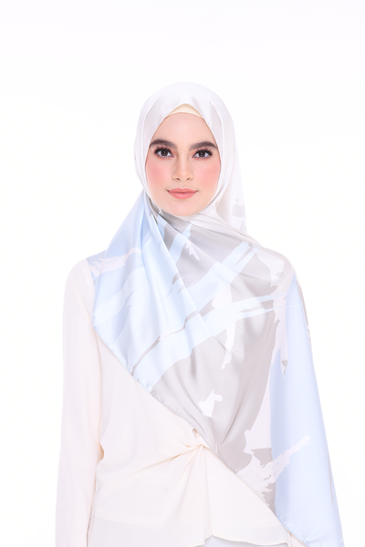 (Shawl) Euphoria FOCUSED MixSatin Silk Scarf (PREORDER - Send within 15 Days)