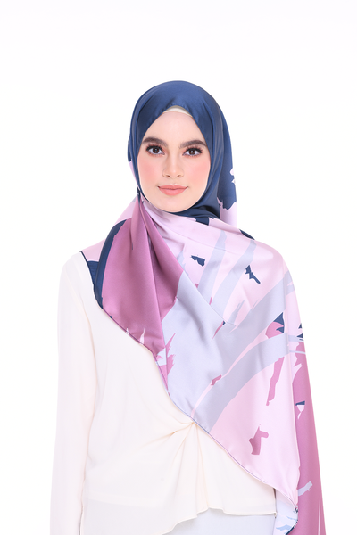 (Shawl) Euphoria BREEZE MixSatin Silk Scarf (PREORDER - Send within 15 Days)