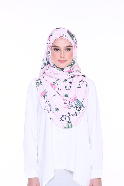 (LadyChanel) Julia Round Awning Pinless Semi Instant Shawl