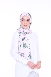( Lady Chanel ) JULIA Pinless Semi Instant Shawl - Round Awning