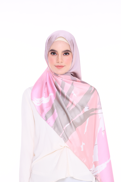 (Shawl) Euphoria SURE MixSatin Silk Scarf (PREORDER - Send within 15 Days)