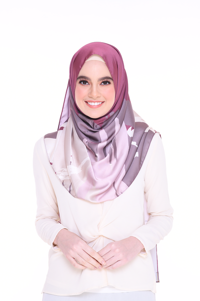 (Shawl) Euphoria DETERMINED MixSatin Silk Scarf (PREORDER - Send within 15 Days)