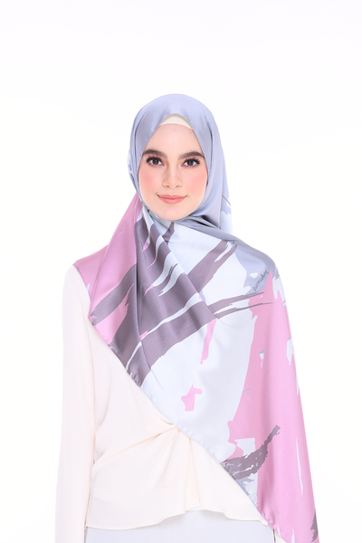 (Shawl) Euphoria RENEWED MixSatin Silk Scarf (PREORDER - Send within 15 Days)