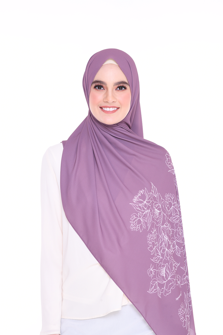 Long Shawl Flowy Chiffon PURE ( Rose Dust )