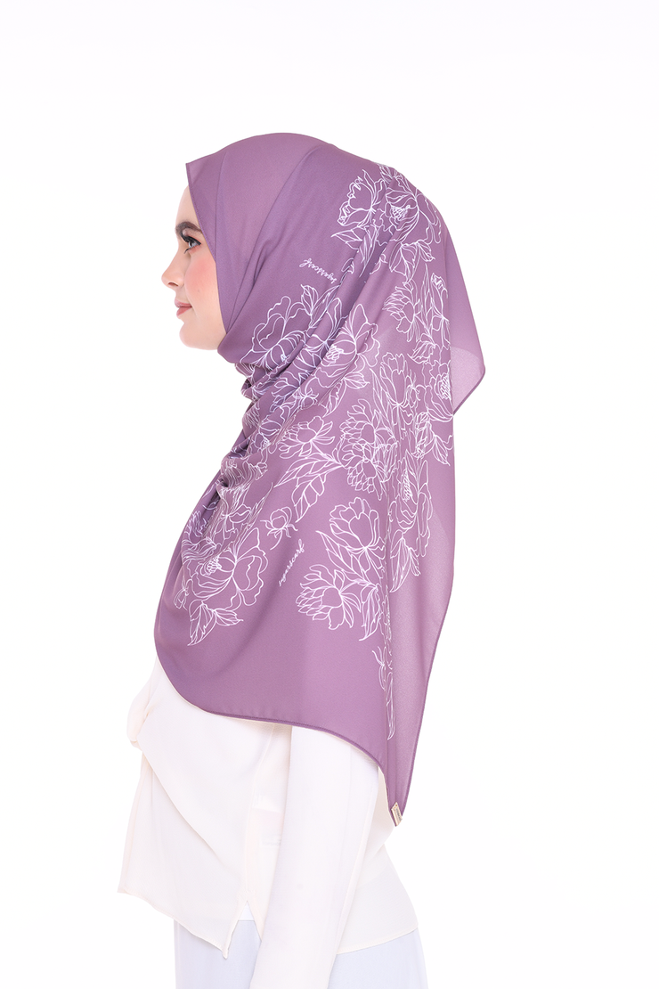 Long Shawl Flowy Chiffon PURE ( Rose Tea )