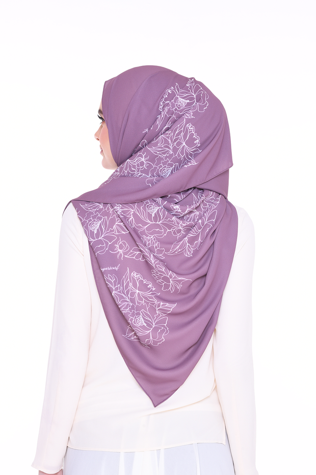 Long Shawl Flowy Chiffon PURE ( Taupe  )