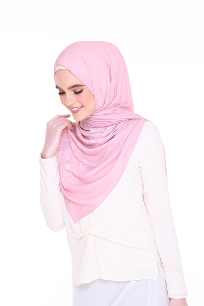 Long Shawl Flowy Chiffon LightRose