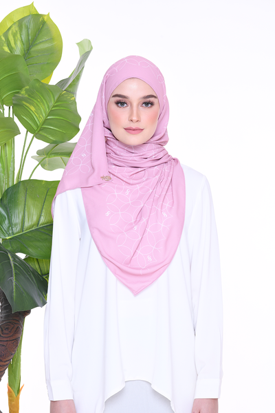 Monogram Louisa (SHAWL ) - DustyPink