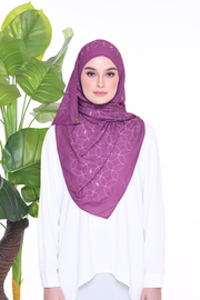 Monogram Louisa (SHAWL ) - Pomegranate