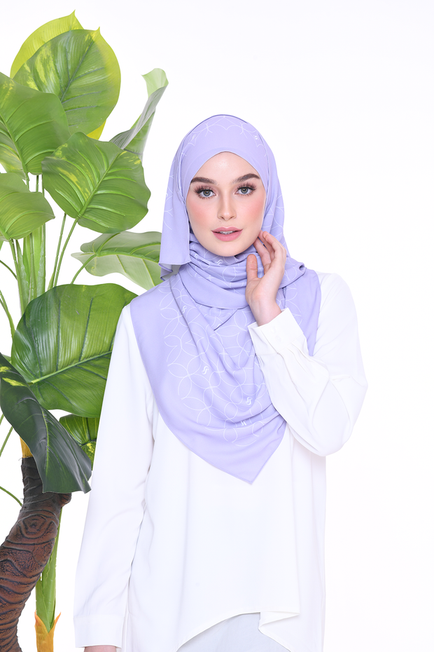 ( Shawl ) Monogram Louisa - Wisteria Purple