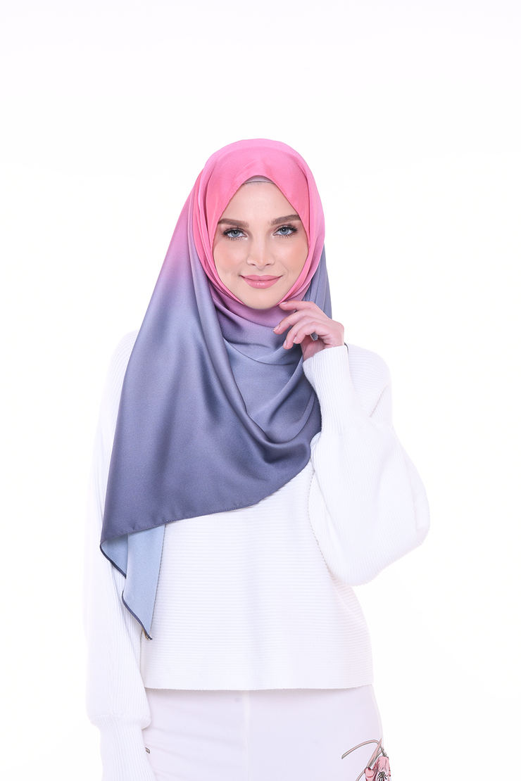 Long Scarf TWILIGHT Mixed Satin Silk ( Candy )