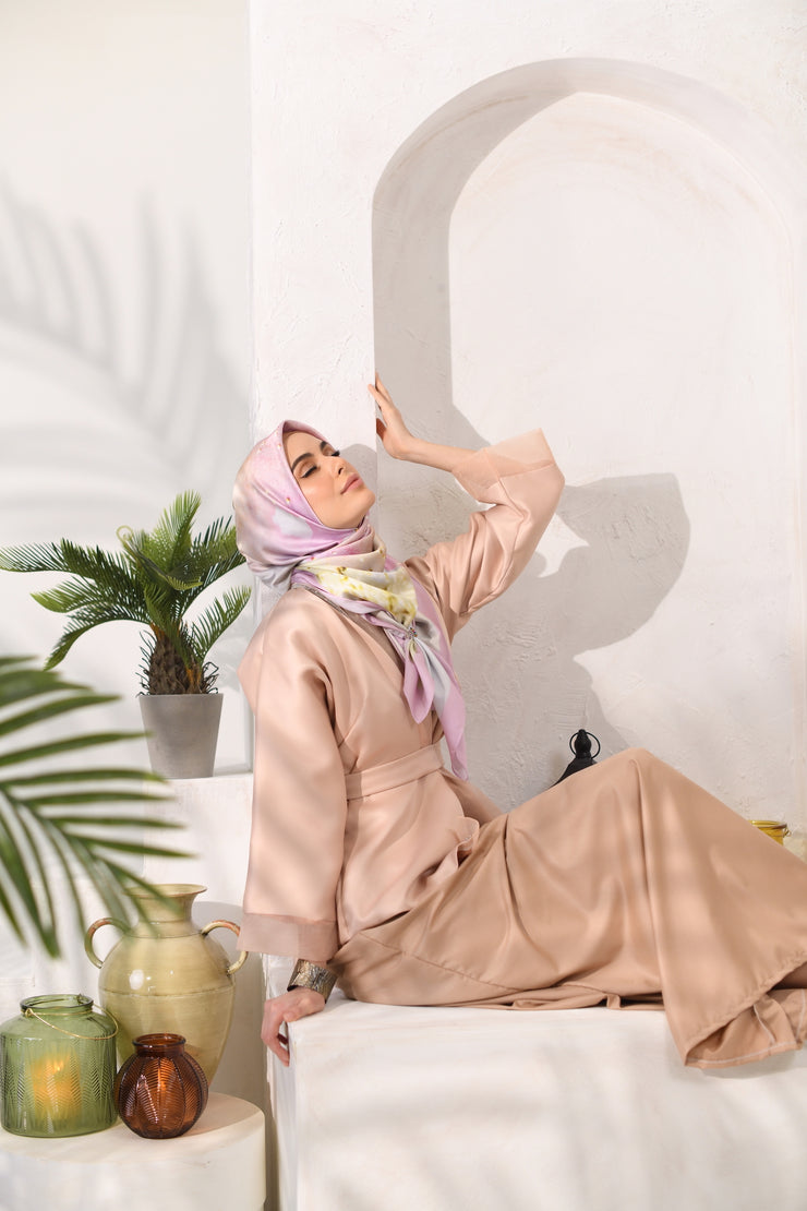 Eid of Hope Square Mixed Satin Silk in Kuih Rose