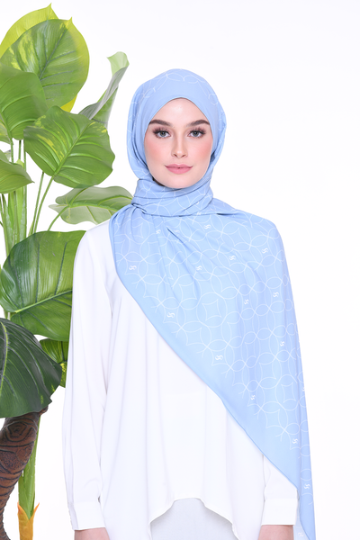 Monogram Louisa (SHAWL ) - DustyBlue
