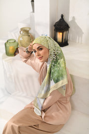 Eid of Hope Square Mixed Satin Silk in Ketupat