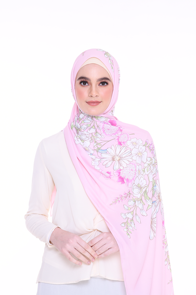 Long Shawl Felicity Pink Exclusive Raya