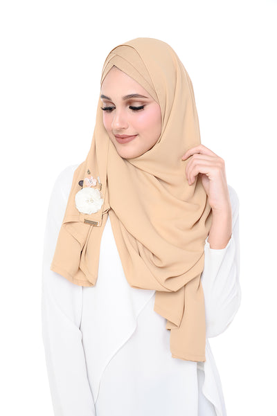 CS Madison 3D Pudding (TieBack) - Beige - Sugarscarf