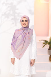 EID DOLCE Pleats Long Shawl in Milky Ribenna