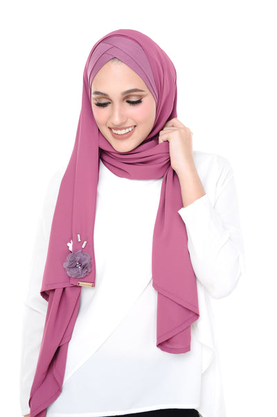 CS Madison 3D Cranberry Purple (TieBack) - Sugarscarf