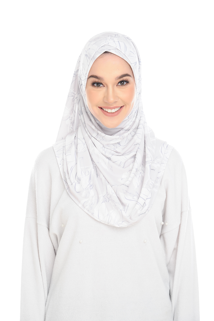 (Soft Bouquet ) Pinless Semi Instant Shawl - Choose Awning