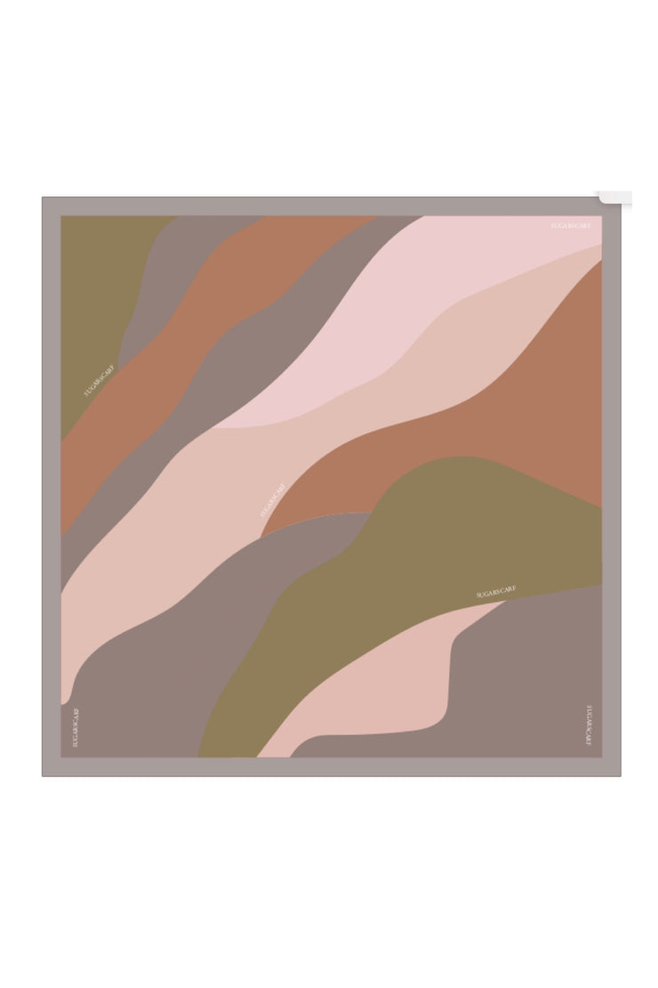 (Square) ArtAbstract Natural MixSatin Silk Scarf