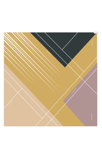 (Square) ArtMirror Boston MixSatin Silk Scarf