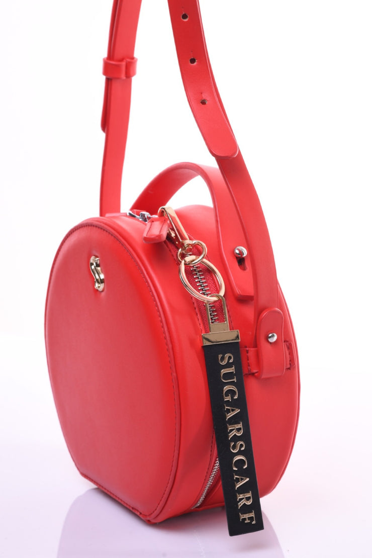 Daneen Round Bag - Apple Red