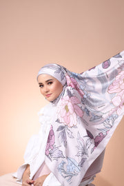 Eid Blooming Mixed Satin Silk (Square ) - Emma