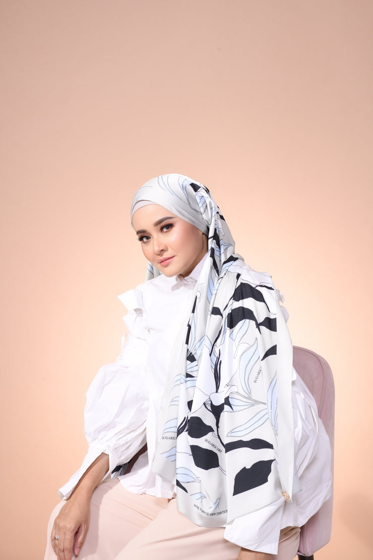 Eid Blooming Lux Mixed Satin Silk ( Shawl ) - Everyln
