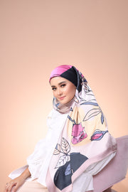 Eid Blooming Mixed Satin Silk (Square ) - Isabella Rosey