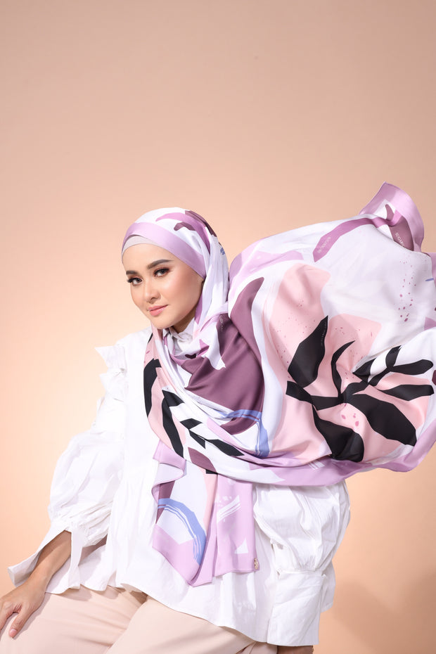 Eid Blooming Lux Mixed Satin Silk ( Shawl ) - Hanna Nature