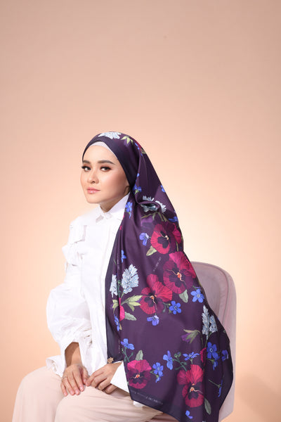Eid Blooming Lux Mixed Satin Silk ( Shawl ) - Sophia