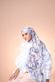 Eid Blooming Lux Mixed Satin Silk ( Shawl ) - Ateena