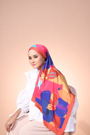 Eid Blooming Lux Mixed Satin Silk ( Shawl ) - Mia The Joyous