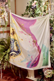 ( Square ) DOLCE Mix Satin Silk Scarf - MixPotion