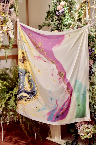 (Square) Dolce MixPotion MixSatin Silk Scarf  ( restocking on 25th )