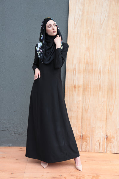 Blair Black Structured Dress - Sugarscarf