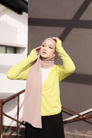 Breeze Pleats Long Shawl (Small) in Salty Sweet ( Pink hues ) ( Slanted Pleats)