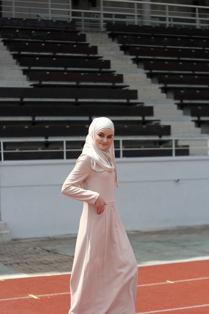 Blair Beige Structured Dress