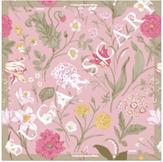 (Square) Empress MixSatin Silk Scarf in Imperial Bloom