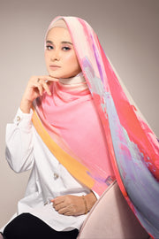 ( Full Pleats ) Empress Shawls  - Bravery Purple Pink